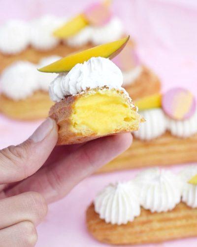 eclairs de mango y coco www.fashioneats.es